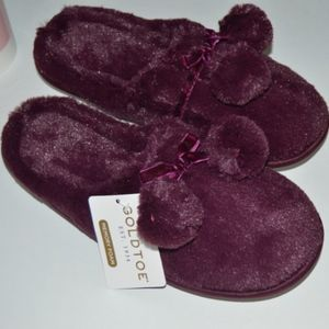 Maroon Comfy Slippers